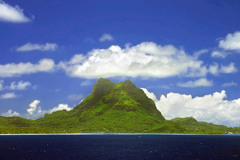 View of Bora Bora with Mount Otemanu. Photo by Christian Wilkinson.