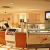 Frozen yogurt in the food court