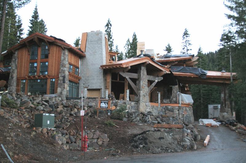 Fancy residences at Northstar ski resort near Truckee, CA