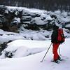 Snow-shoing near Abisko Canyon