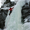 Ice Climbing.<br /> S' at the top of the frozen waterfall