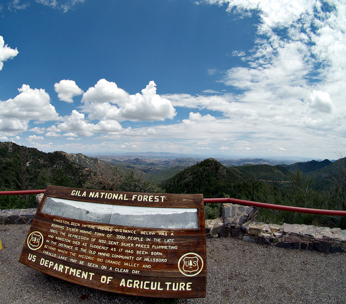 Emory Pass overlook, Black Range, near Kingston, NM