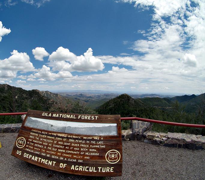 Emory Pass overlook, Black Range, near Kingston, NM