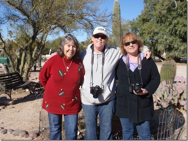 Peggy Wilson, Lisa McCleary and Sharon Penny Palmore, 12-28-2011 at Peggy's house in Tucson, AZ