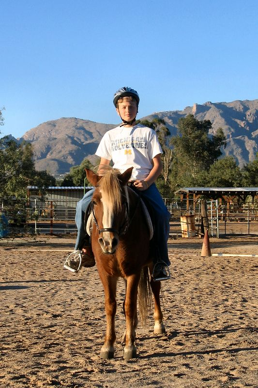Bradley riding Freedom