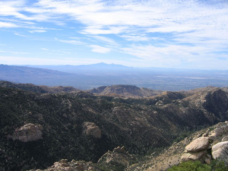View going up to Mount Lemmon