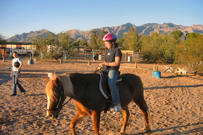 Leann riding Freedom