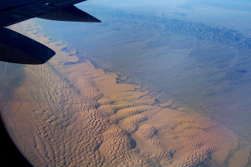 Looking down on the Algodones Dunes.
