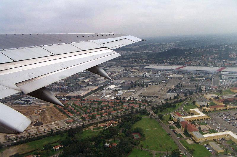 Airborne, leaving San Diego behind. I love flying.