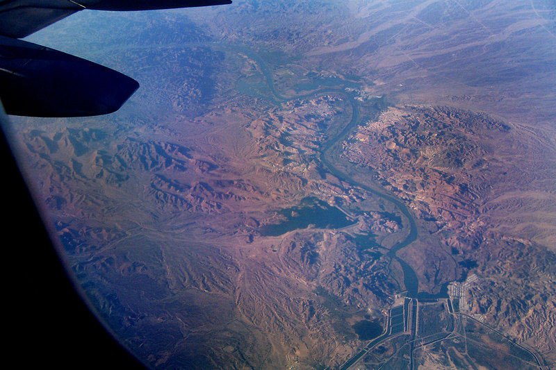 Flying over a section of the Colorado River.