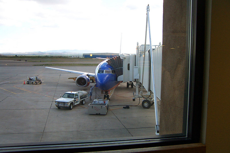 Back at the Tucson airport. This is the plane we are waiting to broad for the flight back to San Diego, wish we had a few more days to spend here.