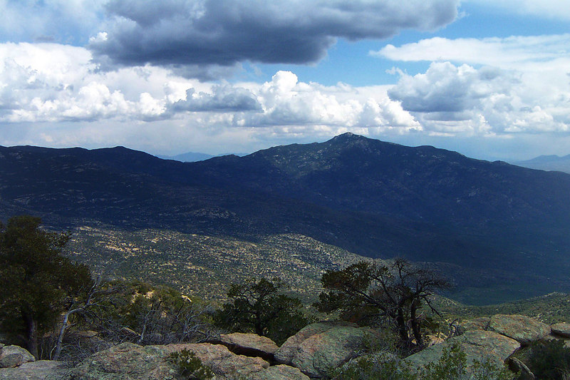 A view of Rincon Peak to the southeast.