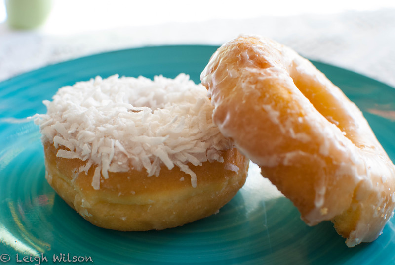 Amy's Donuts<br /> Vanilla Coconut and Glazed Cake Donut