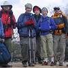 Hikers ready to get warm