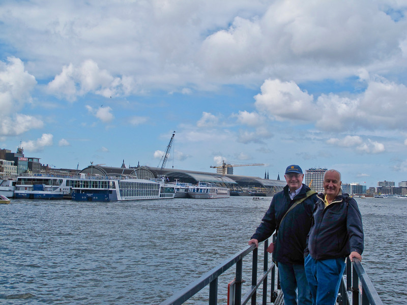 We started our cruise in Amsterdam.   That is our ship, Amadolce, on the left.