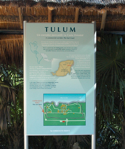 Information about the Tulum ruins site