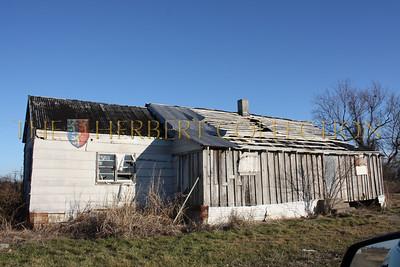 Abandoned homes on a plantation
