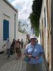 A street in Sidi Bou Said.  All the houses have to be painted white with blue trim.