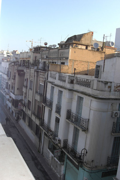 Hotel Carlton in Tunis - The view from my bedroom