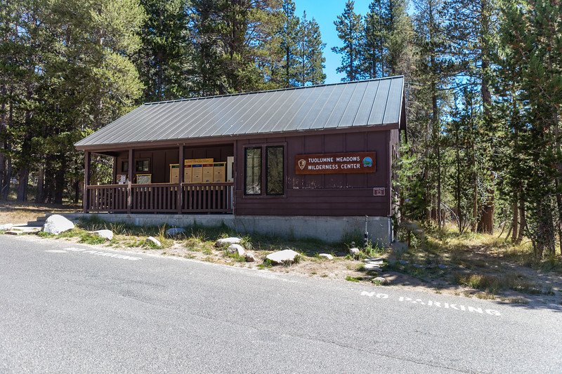 Tuolumne Meadows Wilderness Center where backpackers come to get their back country permits