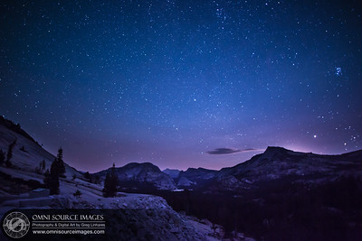 Moon Glow Over Tuolumne Meadows - Yosemite National Park