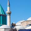 Green-Tiled Dome of Mevlâna Museum, Konya