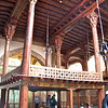Wooden müezzin-mahfili (platform from which mosque official chants responses to prayers of Iman), Esrefoglu Mosque, Beysehir