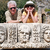 Missy and John, Carved Masks from Amphitheater, Myra
