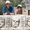 Judy and Pete, Carved Masks from Amphitheater, Myra