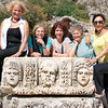 Isobel, Carole, Liz, Susie and Rosalind, Carved Masks from the Amphitheater, Myra