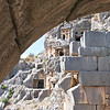 Lycian Rock-Cut Tombs from Amphitheater Archway, Myra