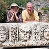 Geri and Jim, Carved Masks from the Amphitheater, Myra