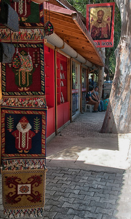 Myra, Turkey.  We bought those woven St. Nicholas tapestries for the families with children.