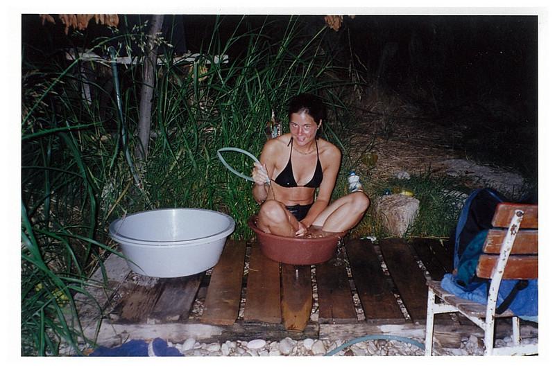Bathing.