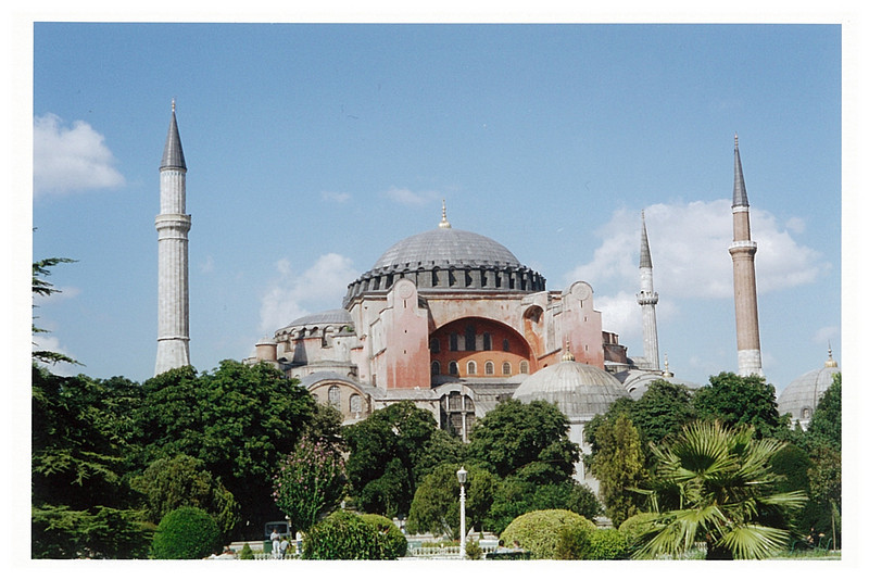 Hagia Sophia- a former Eastern Orthodox church converted to a mosque, now a museum.