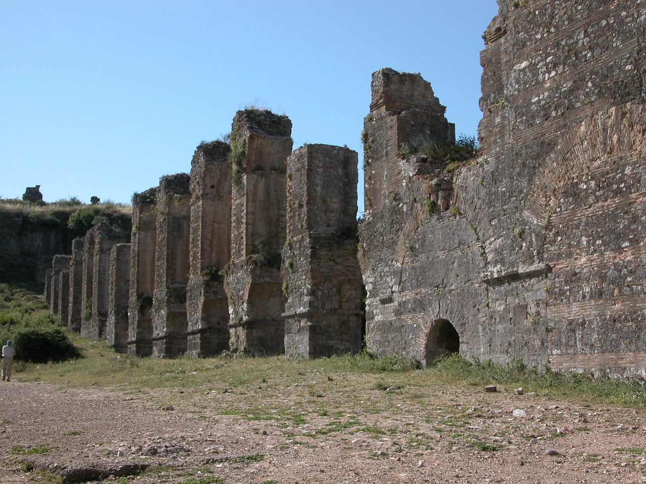 Aquaduct arches and towers