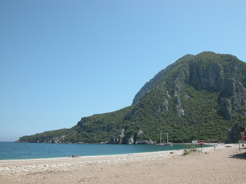 The beach at Olympus