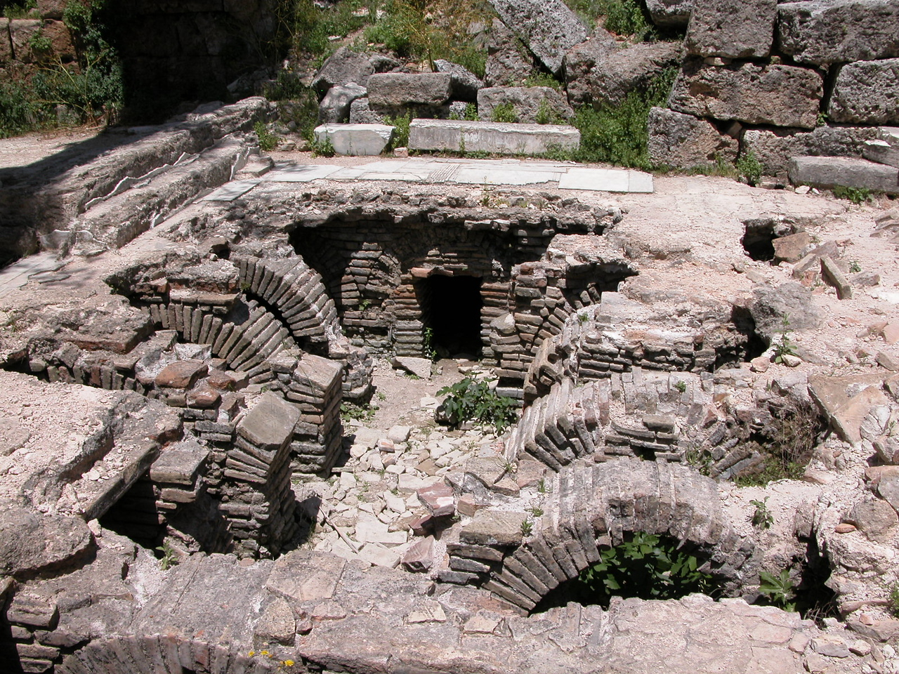 Collapsed Hypocaust system