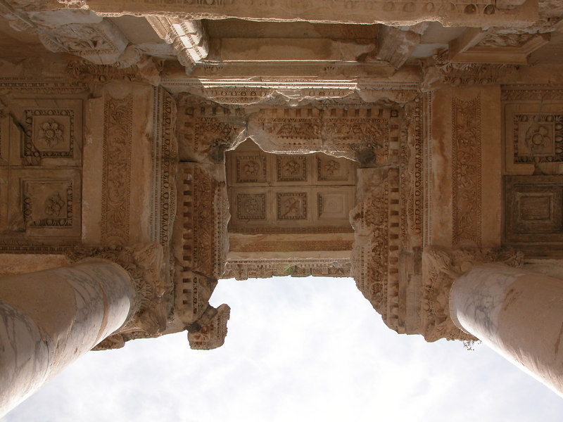 Library of Celsus facade details