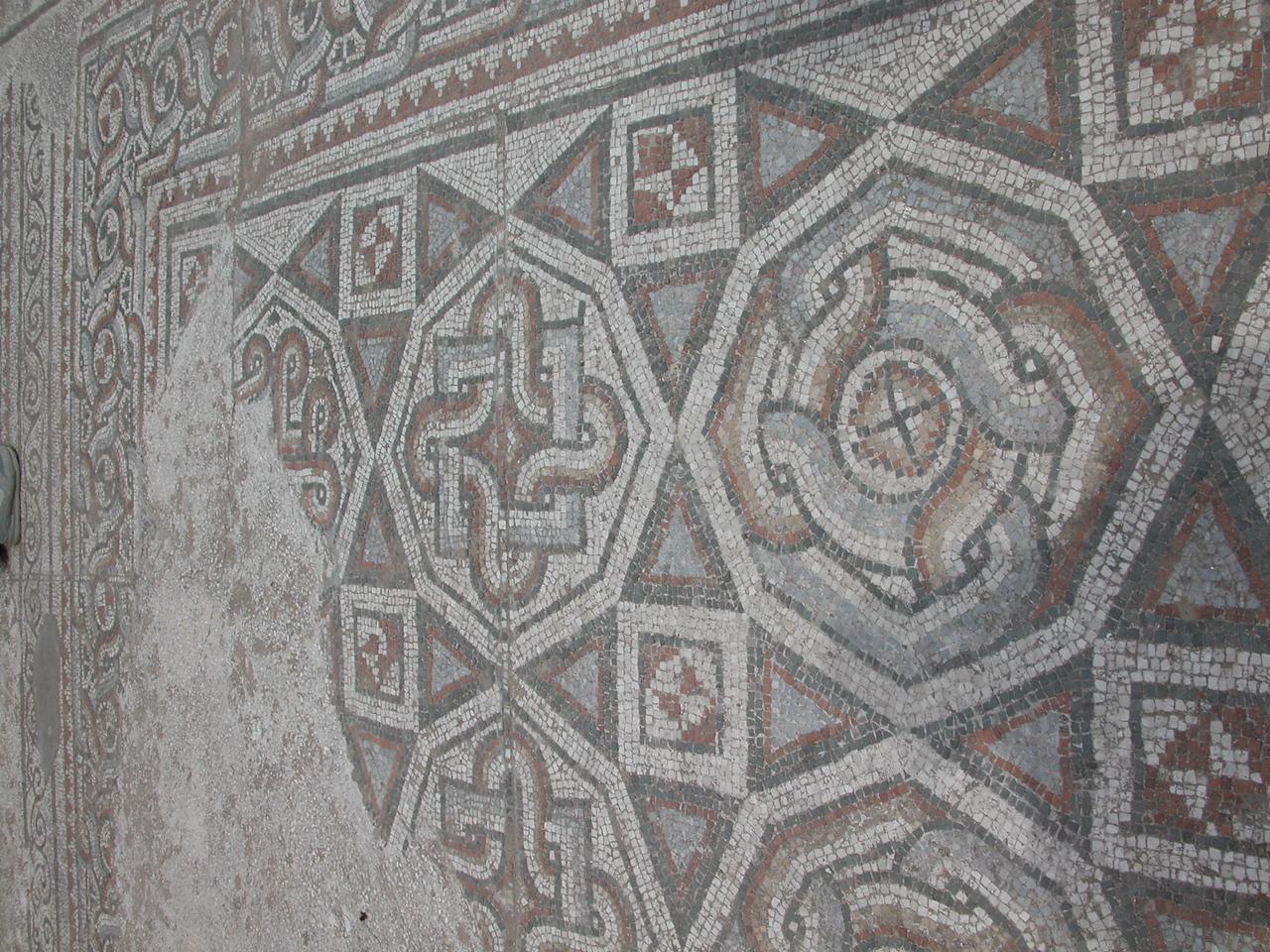 atrium decorated in mosaics