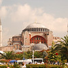 Across a park is Istanbul's most famous mosque, the Hagia Sophia, first built by Constantine as a Christian Church.