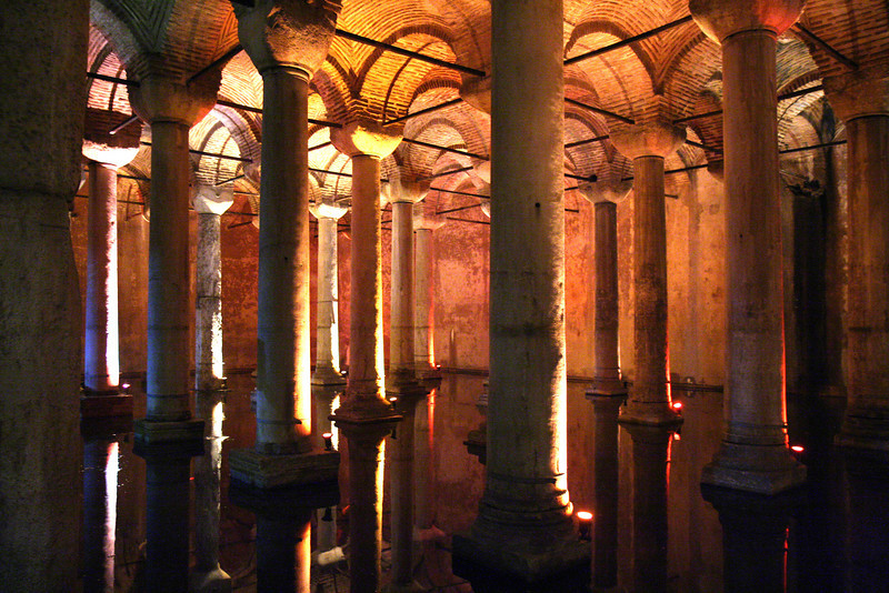 Underground Cisterns (Supplied water to Constantinople - 532 AD)