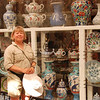 Ann in the bazaar.