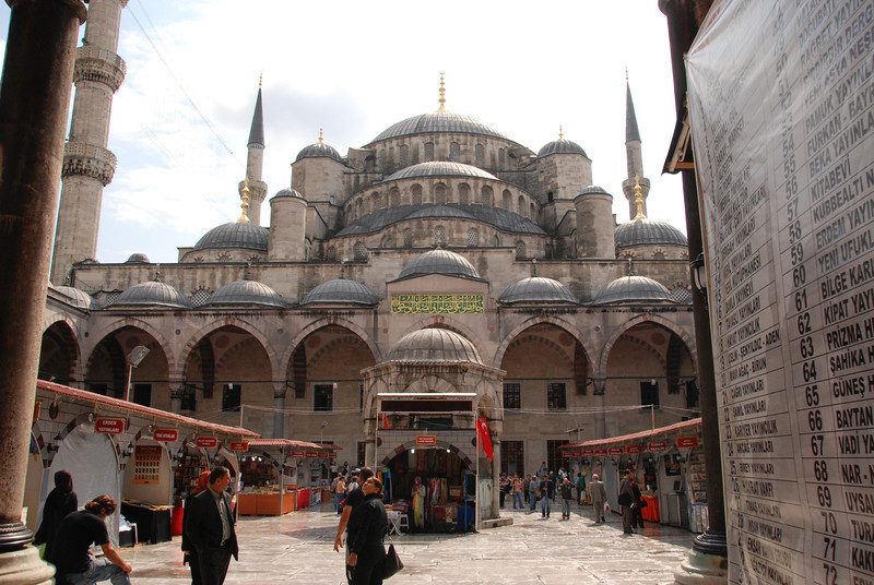 Outside the Blue Mosque is a bazaar devoted to books.