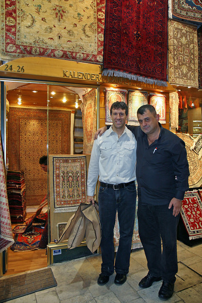 Rug shopping at the Grande Bazaar