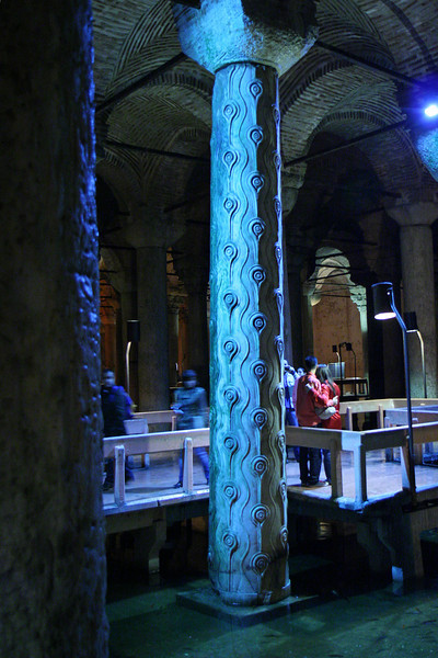 Irregular column in Cistern