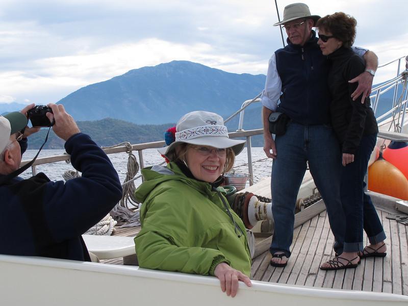 Beth under sail