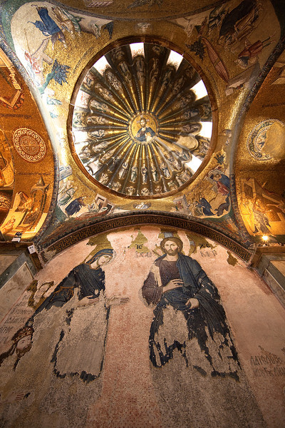 An overview of the mosaics in the Chora Church.