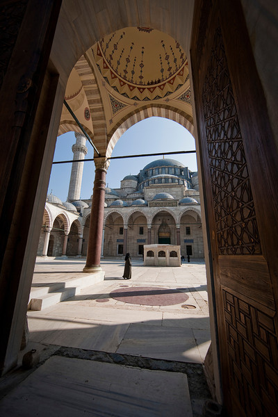 The Suleymaniye Mosque.