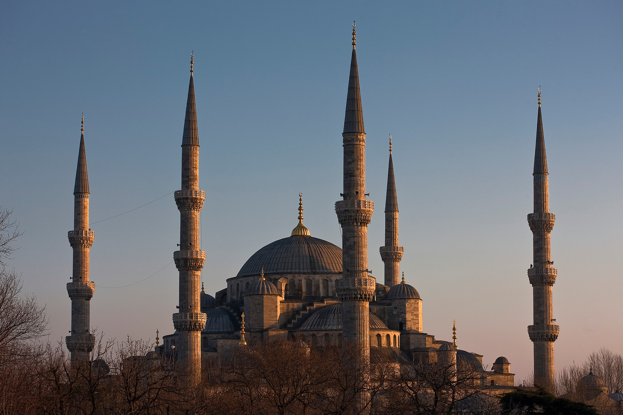 Blue Mosque, Sultan Ahmet's 17th-century response to Hagia Sophia. Nice try—it's big, but not as big as Hagia Sophia!